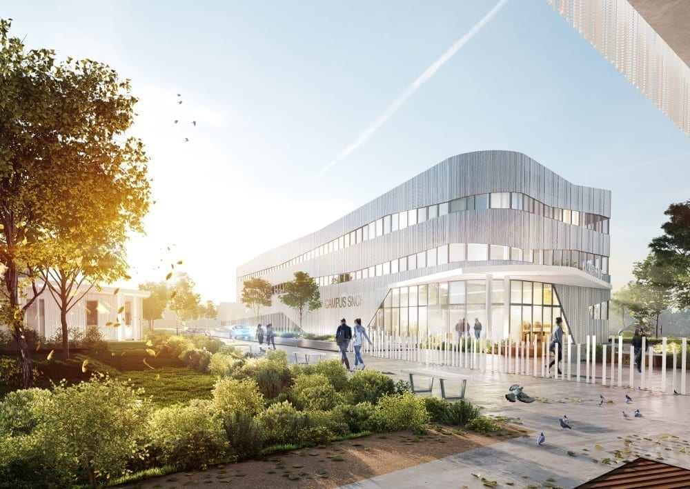 GSE is building a 12,265 m2 high environmental performance campus for SNCF network