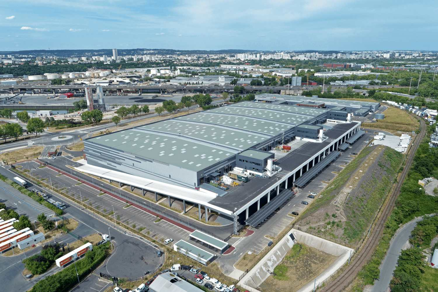 The Paris Air² logistics platform (Gennevilliers) certified Breeam Excellent with the best score obtained in France