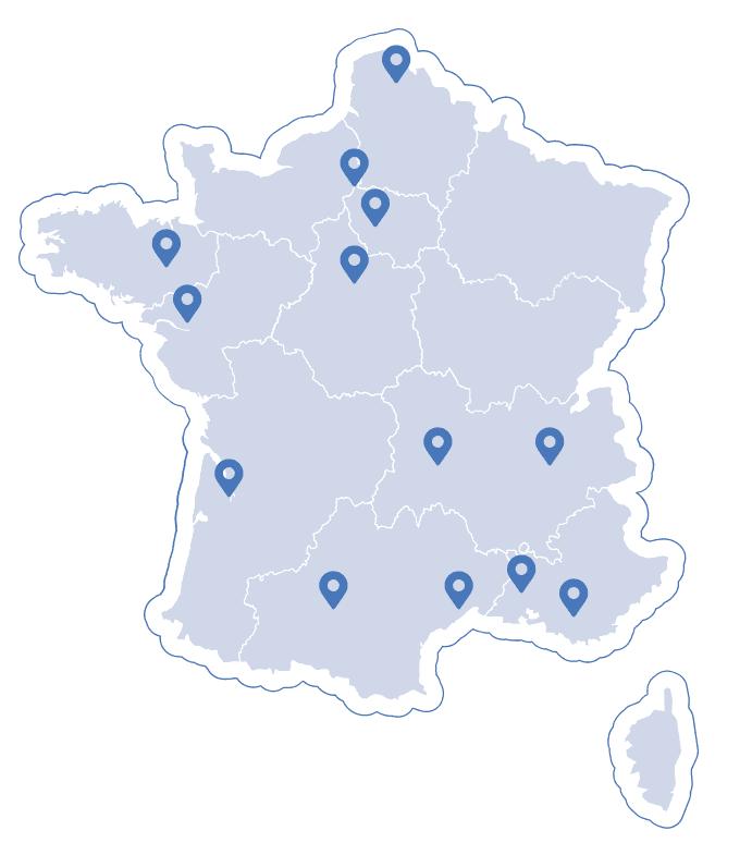 Implantations en France