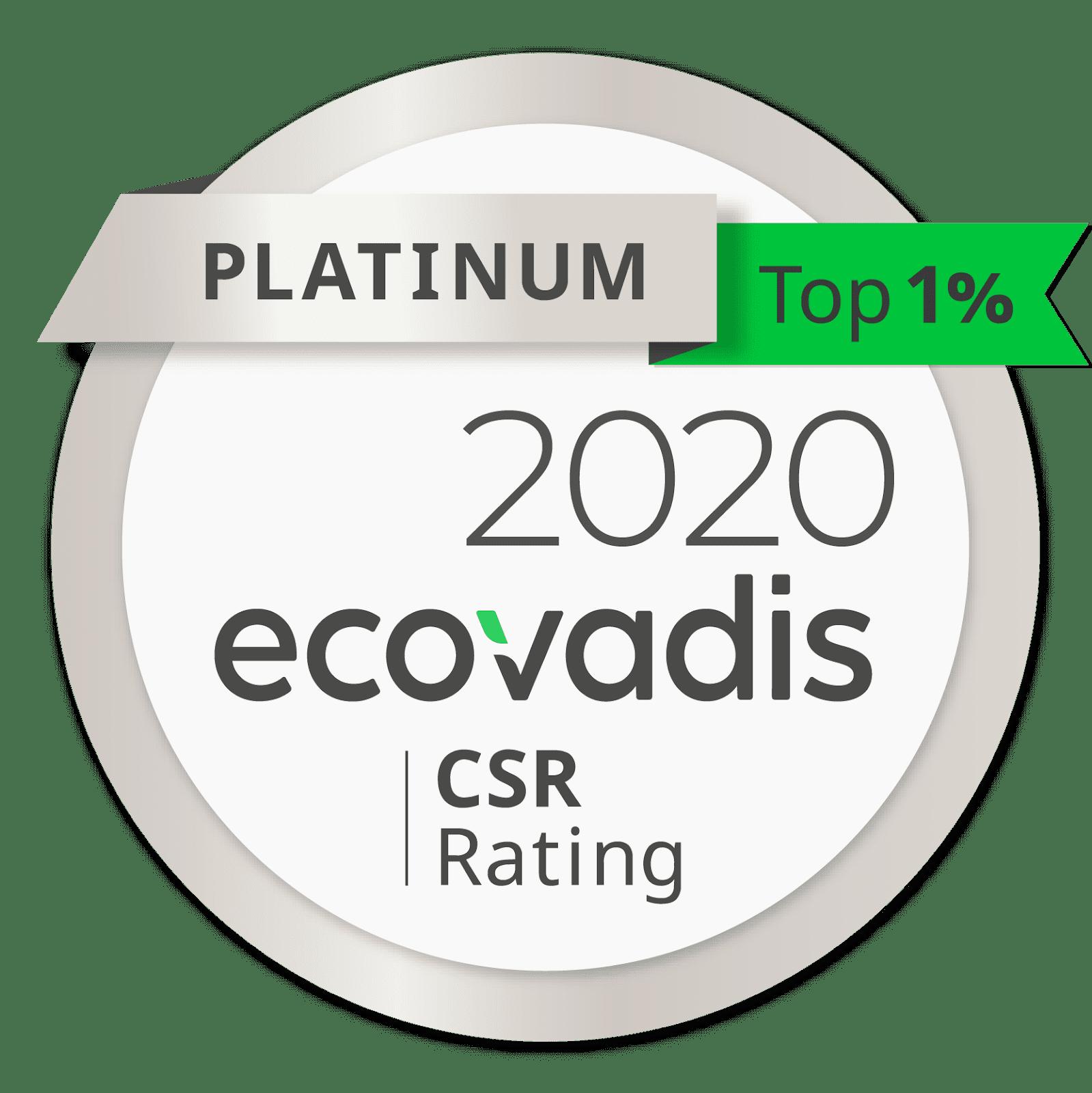 GSE obtient le niveau Ecovadis Platinum