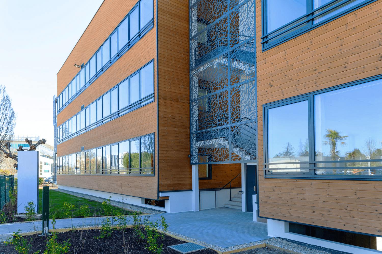 GSE Aquitaine livre «WOOD OFFICE», le 1er bâtiment BEPOS à ossature bois sur Bordeaux Métropole