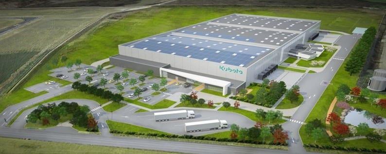 GSE construit le nouveau centre européen de distribution de pièces détachées pour le groupe japonais KUBOTA
